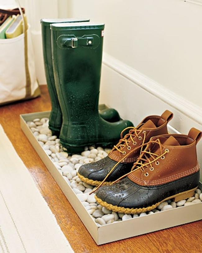 Коврик для обуви из камней
