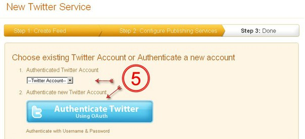 Twitter Feed Auth
